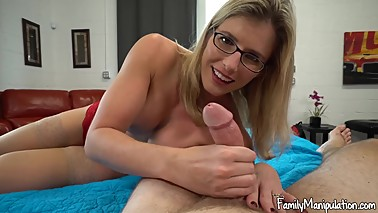 Concerned Mom leta€™s Step-guy Creampie her Hairy Pussy to Relieve Stress!