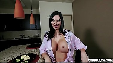 Hot momma Jasmin Jae cant hides her perfect big tits in her robe so her horny stepguy whips his cock out and she suck his tasty dick into euphoria.