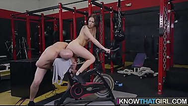 Mofos - (Aubrey Rose) and Jmac - Doggystyle Fuck On Gym Bike