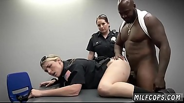 Black anaconda dick and horny milf with young guy Milf Cops