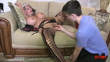 Hot Cougar Stepmom Fucks Her Young guy