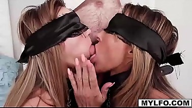 Mom Aubrey Black and her stepdaugther Ana Rose want to have some fun and call a male escort to dominate them in a fucked up BDSM scene!