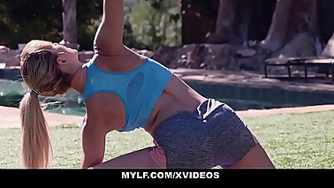 MYLF - Mature Blonde Fitness Vlogger Cherie Deville Fucks Young Assistant